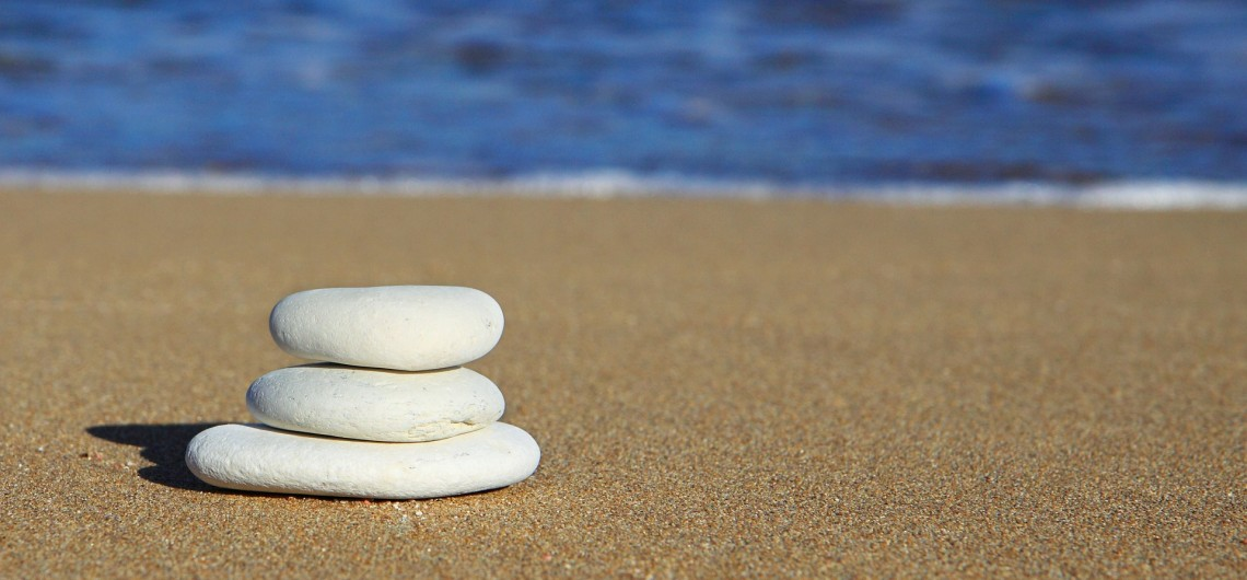 Three Stones on the Beach